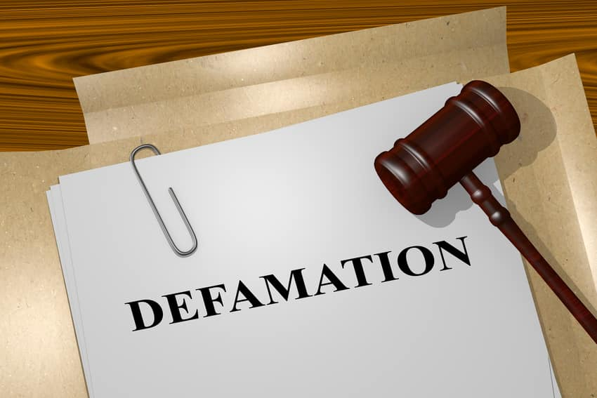 Stopping Slander or Defamation